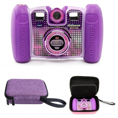 Vtech Kidizoom Twist Connect Camera (Purple) + FREE case