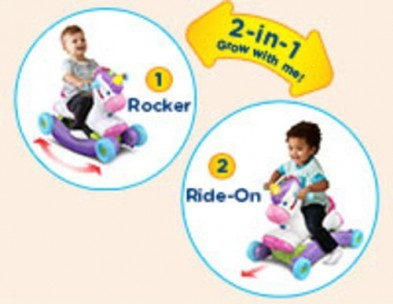 Vtech Rock & Ride Unicorn 2 in 1 pink ride on rocker