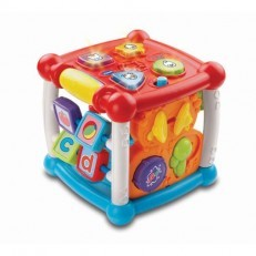 Vtech Turn and Learn Activity Cube (Orange/Pink)