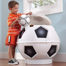 Step2 White Soccer Ball Toy Chest